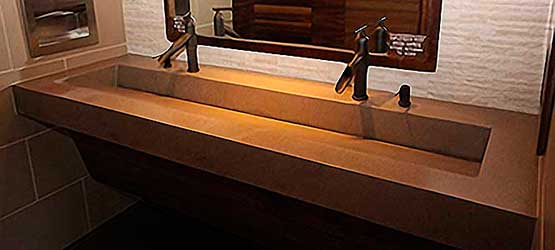 Commercial Bathroom Sink commercial trough bathroom sinks | custom and standardeko