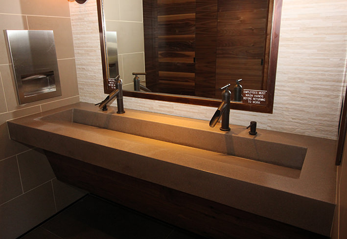 Commercial Trough Sinks For Bathrooms : Trough Sink - Ramp Style Commercial and Custom Residential Bathroom ...