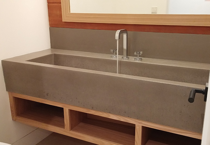 Incline Trough Sink Ramp Style Custom Residential