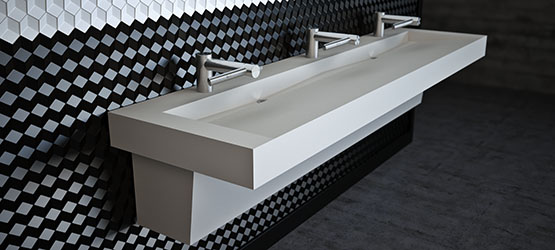 Commercial Trough Bathroom Sinks Custom And Standard By